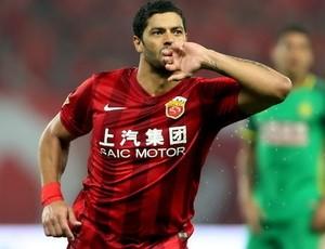 Hulk comemora gol, Shanghai SIPG x Beijing Guoan (Foto: Reprodução / sina.com)