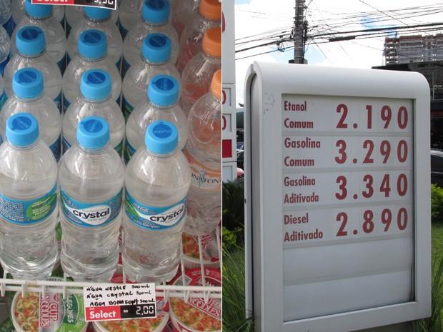 Preços em posto de combustíveis na rua Emília Marengo, zona leste da capital paulista. (Foto: Karina Trevizan/G1)