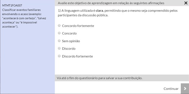 Portal permite o 'voto' nos itens da proposta preliminar; é possível ainda editar e propor alterações (Foto: Reprodução/MEC)