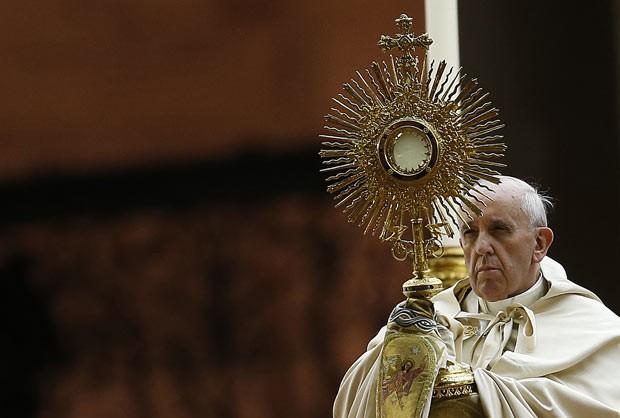 O Papa Francisco durante oração pela Síria neste sábado (7) no Vaticano (Foto: Tony Gentile/Reuters)