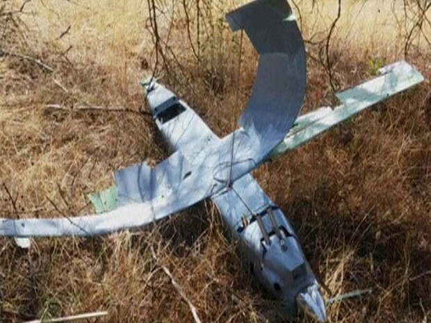 Turquia abate drone perto da fronteira com a Síria, diz TV (Foto: Reprodução/Reuters TV)