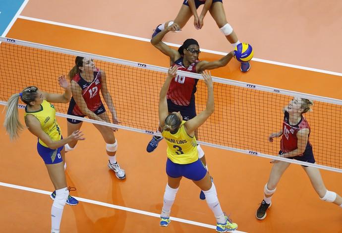 Brasil x EUA - final Grand Prix vôlei feminino (Foto: Divulgação/FIVB)