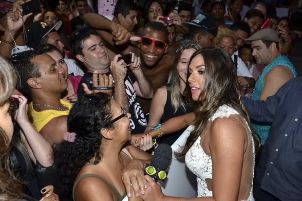 Nicole Bahls na festa de lançamento da novela Em Família  (Foto: Roberto Teixeira / EGO)
