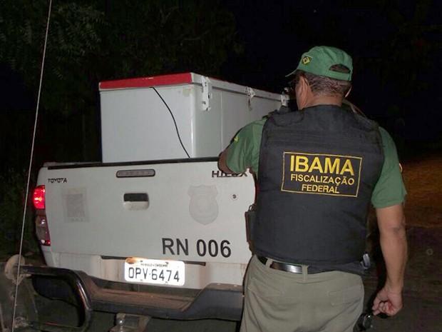 Freezers utilizados para armazenar animais silvestres foram apreendidos (Foto: Divulgação/ Ibama-RN)
