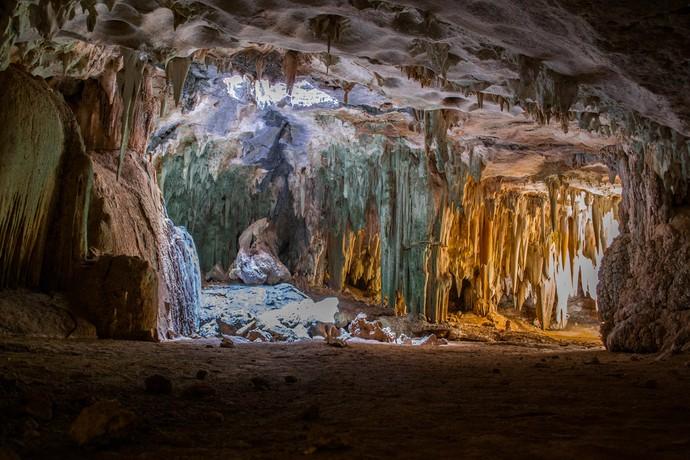 'Caverna da Catedral' em Felipe Guerra-RN (Foto: Sérgio Luis / Divulgação Rota Inter TV)