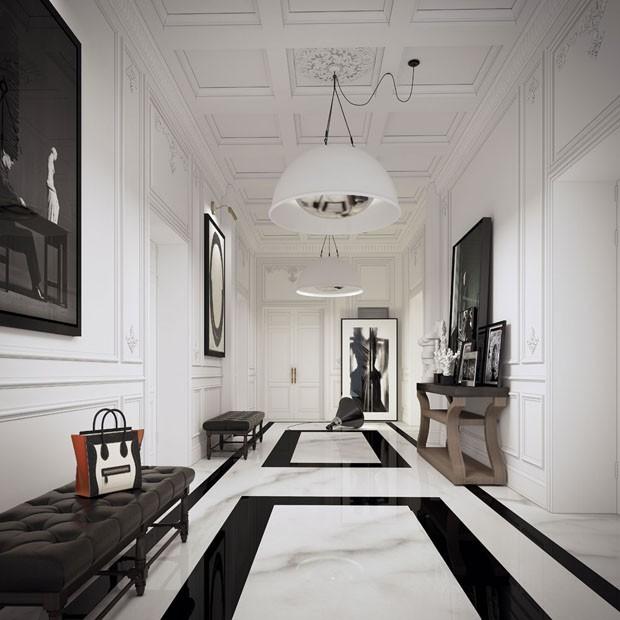 Isabela Giobbi: a elegância do mármore em preto e branco (Foto: Kelly Wearstler/Reprodução)