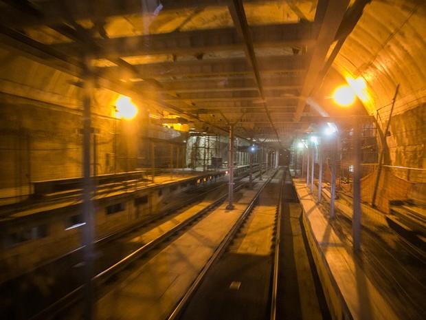 Obras em trecho da Linha 4 Amarela do Metrô de SP (Foto: Fernando Nascimento/Sigmapress/Estadão Conteúdo)