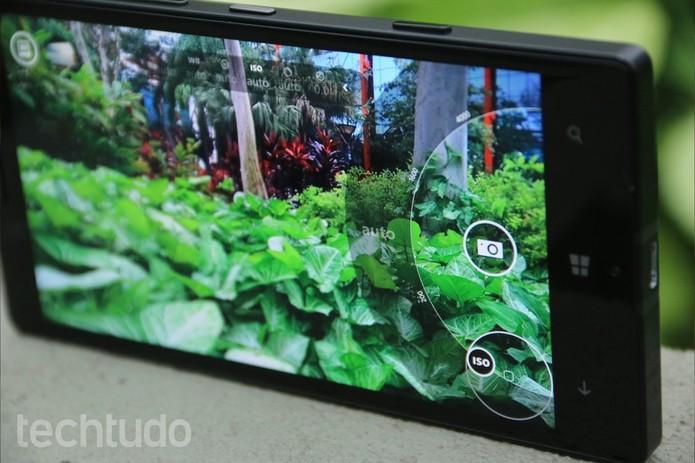 Detalhes da interface da câmera do Lumia 930 (Foto: Lucas Mendes/TechTudo)