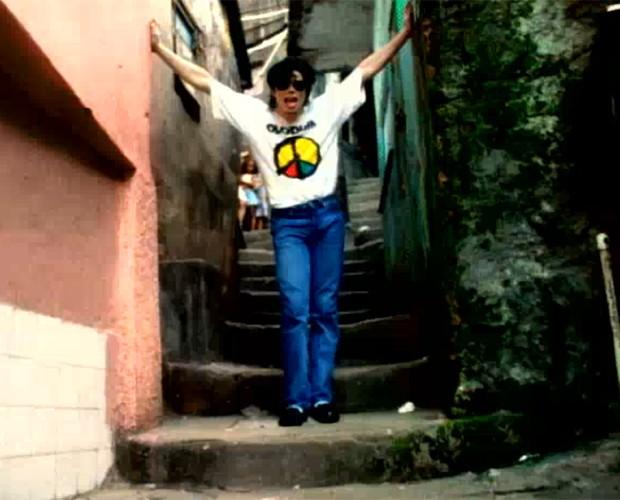 Michael Jackson gravou no Rio de Janeiro e em Salvador para o clipe de 'They Don't Care about us' (Foto: Reprodução)