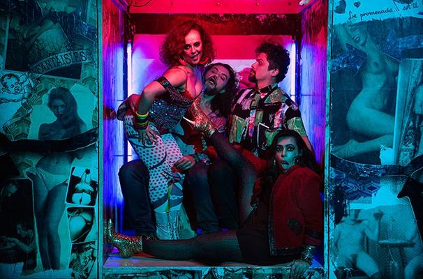 Fransérgio, Carina, Rosa e Afonso Henrique em 'Prostitutas Fora de Moda' (Foto: Henrique Oda)