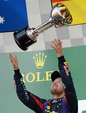 Sebastian Vettel está quase com a mão na taça (Foto: AFP)