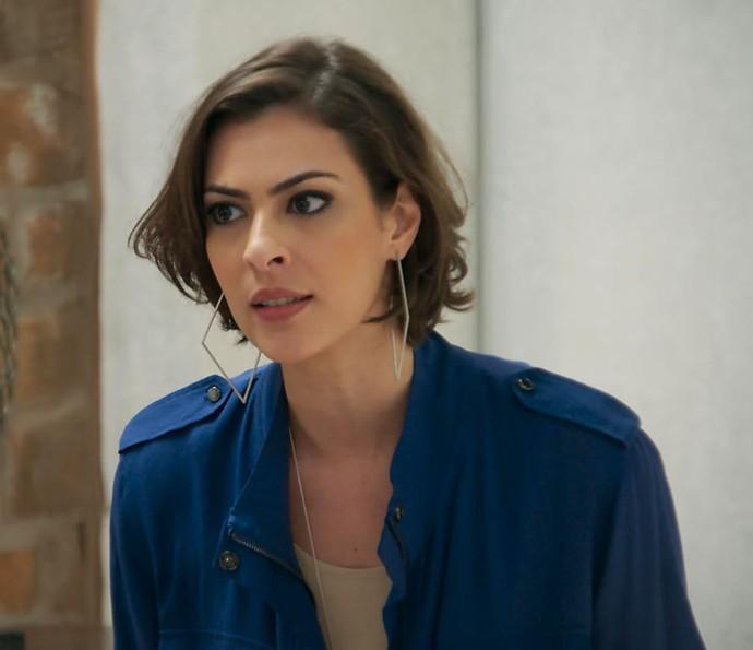 Adriana lembra que Tamara quase matou Fabinho durante corrida (Foto: TV Globo)