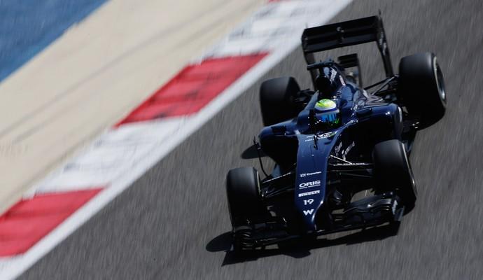 Felipe Massa fez o melhor tempo deste sábado com o novo carro da Williams (Foto: Getty Images)