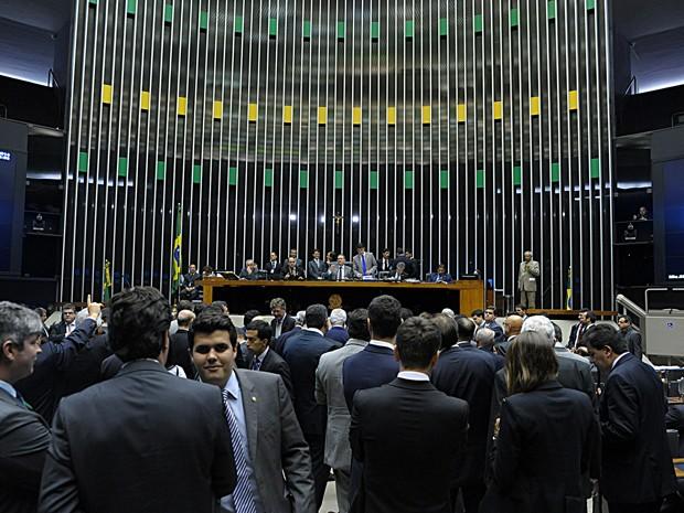 Parlamentares em sessão do Congresso para votação de vetos presidenciais (Foto: Luis Macedo / Câmara dos Deputados)