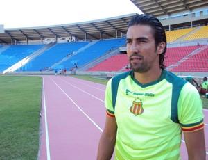 Leandro Kível está confiante em um bom desempenho com a camisa do Sampaio (Foto: Afonso Diniz/Globoesporte.com)