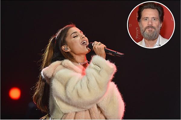 Ariana Grande e Jim Carrey (Foto: Getty Images)