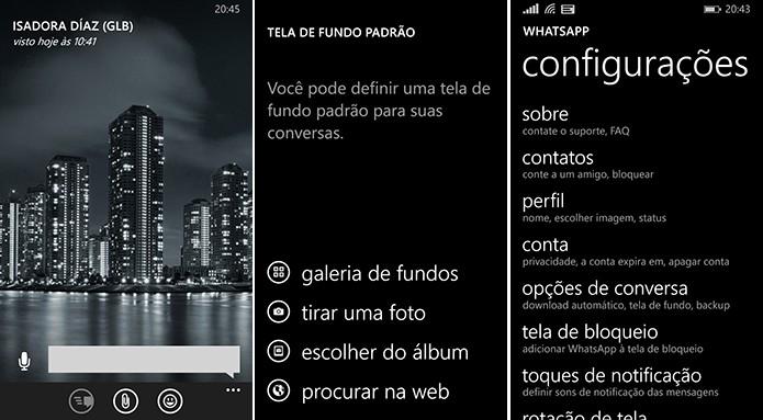 WhatsApp foi atualizado para Windows Phone com suporte a plano de fundos e mais novidades (Foto: Divulgação/WhatsApp)