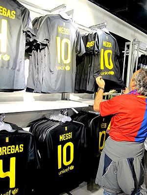 Messi loja especial Barcelona (Foto: Cahê Mota / Globoesporte.com)
