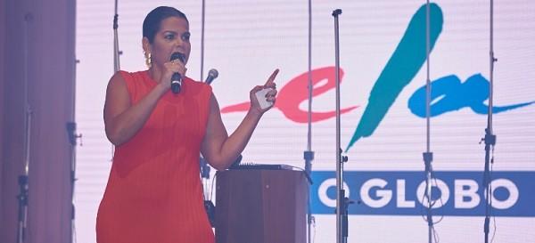 Daniela Falcão na festa de abertura do Veste Rio nesta terça-feira (24) (Foto: Divulgação)