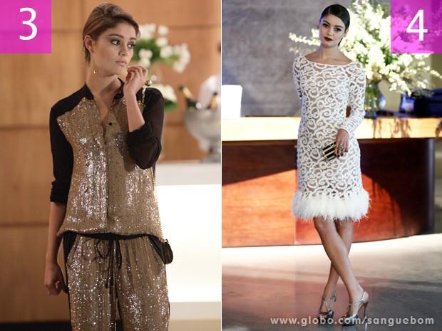 It-girl aparece diva em cenas do aniversário de Camilinha Lancaster e na premiação de Natan (Foto: Sangue Bom/TV Globo)