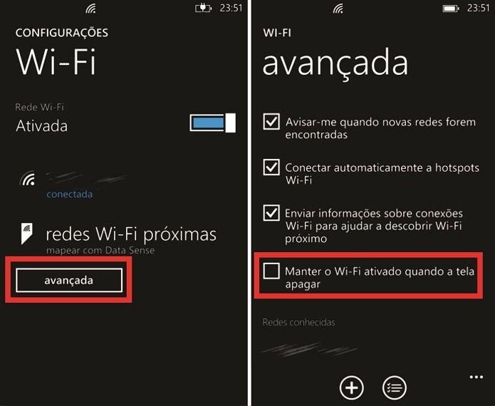 Conexão Wi-Fi do Windows Phone pode ser ativada definitivamente nas configurações do sistema (Foto: Reprodução/Elson de Souza) (Foto: Conexão Wi-Fi do Windows Phone pode ser ativada definitivamente nas configurações do sistema (Foto: Reprodução/Elson de Souza))
