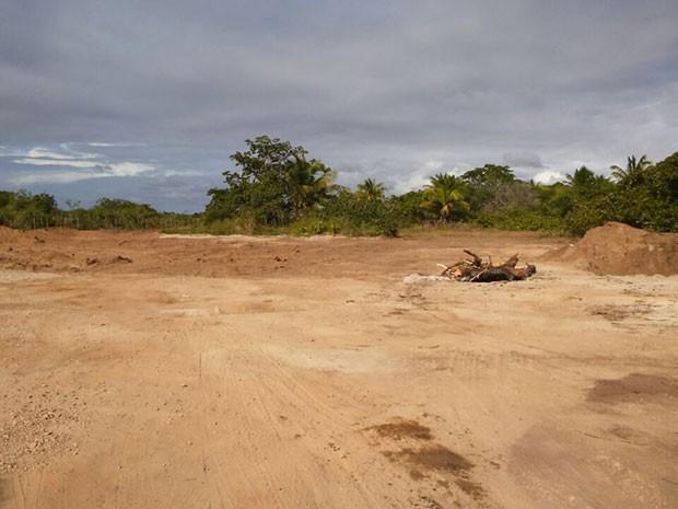 Terreno da Cadeia Pública de Ceará-Mirim, na Grande Natal (Foto: Bessie Cavalcanti/Inter TV Cabugi)