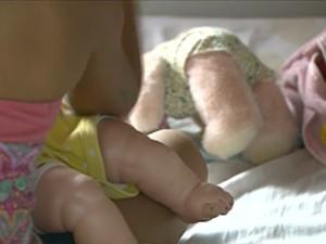 Criança em centro de acolhimento no DF (Foto: TV Globo/Reprodução)