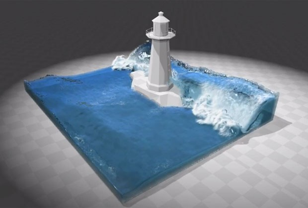 Tecnologia promete tornar a água mais real nos games e animações do cinema (Foto: Divulgação/Miles Macklin)