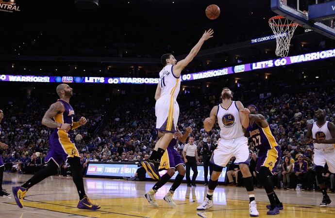 Klay Thompson Warriors x Lakers NBA (Foto: Getty)