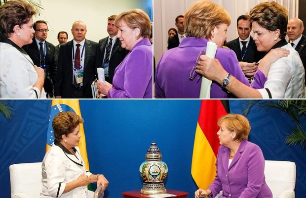 Imagens do encontro entre a presidente Dilma Rousseff e a chanceler alemã Angela Merkel em Los Cabos, no México (Foto: Roberto Stuckert / PR)