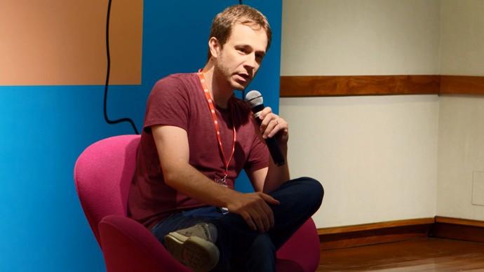 Tiago Leifert no GloboLab (Foto: Gshow)