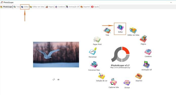 Selecione o editor no PhotoScape no computador (Foto: Reprodução/Barbara Mannara)