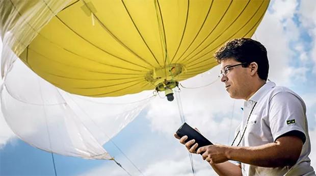 Leonardo Nogueira, da Altave: balões de monitoramento inspirados em tecnologias do exército francês (Foto: Anna Carolina Negri / Editora Globo)