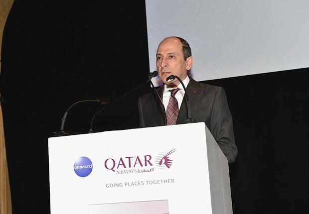 Akbar Al Baker, CEO da Qatar Airways (Foto: Moses Robinson/Getty Images for Qatar Airways)