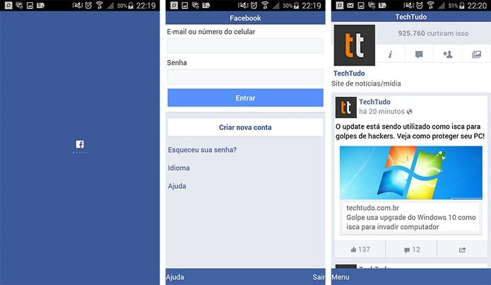 Facebook Lite tem funcionalidades tradicionais em app mais leve (Foto: Reprodução/Barbara Mannara)