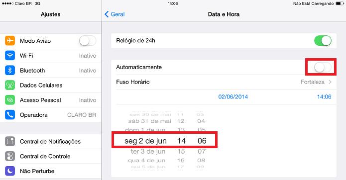Mudando a data e a hora no iOS (Foto: Reprodução/Edivaldo Brito)