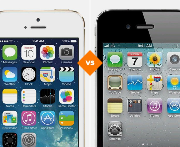 iPhone 5S e iPhone 4S (Foto: Arte/ TechTudo)
