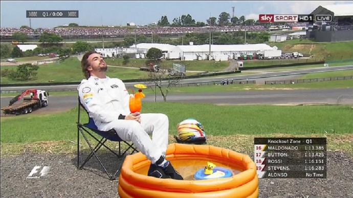 Fernando Alonso - GP do Brasil (Foto: Reprodução/twitter)