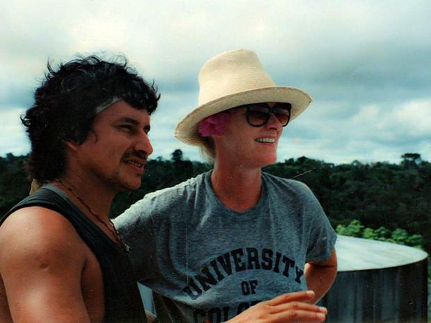 No início da carreira como guia turístico, Ailton apresentava as cidades do Amazonas aos turistas (Foto: Arquivo Pessoal)
