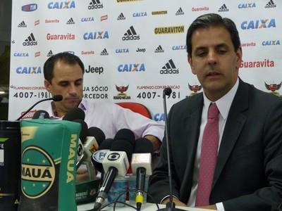 Rodrigo Caetano e Alexandre Wrobel Flamengo (Foto: Richard Souza/GloboEsporte.com)