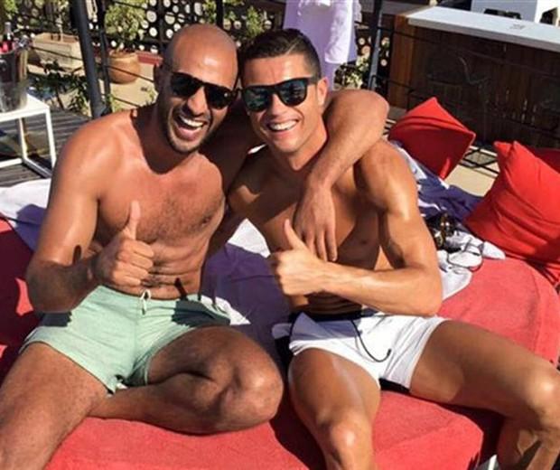 Badr Hari e Cristiano Ronaldo  (Foto: reprodução/Instagram)