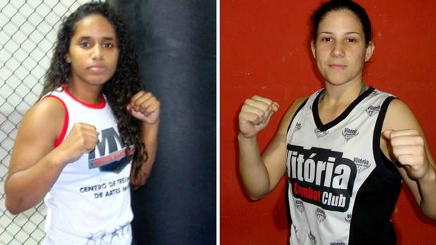 Mylena Madu x Karol Rosa é a luta feminina do HCC 13 (Foto: Montagem sobre fotos do HCC)