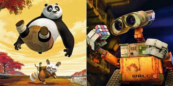 'Kung Fu Panda' e 'WALL-E' são duas animações que a Globo leva até você na Sessão da Tarde do feriadão (Foto: Divulgação)