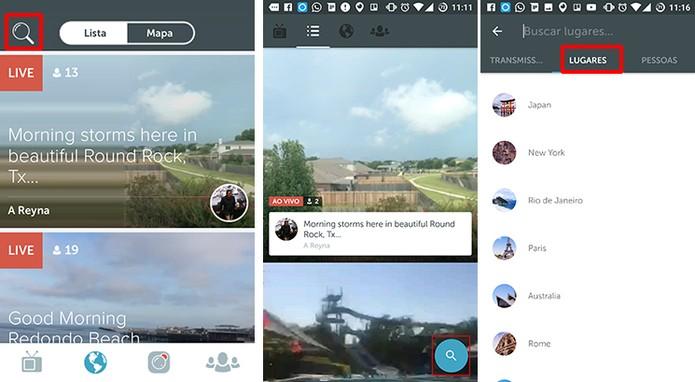 Periscope ganhou busca por cidades e países no Android e iOS (Foto: Reprodução/Elson de Souza)