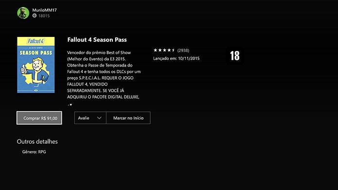 Compre e baixe o Season Pass (Foto: Reprodução/Murilo Molina)
