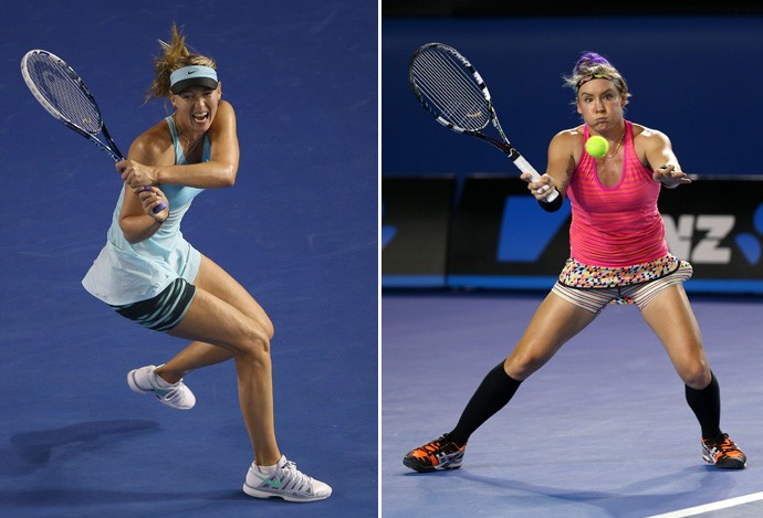 sharapova x Bethanie Mattek-Sands tenis (Foto: Getty Images)