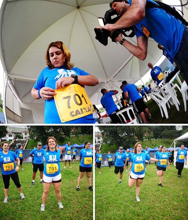 MONTAGEM - cassia maratona são paulo eu atleta (Foto: Marcos Ribolli / Globoesporte.com)