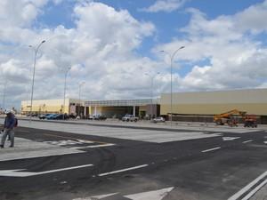O Roraima Garden Shopping, na zona Leste de Boa Vista, será inaugurado na quinta-feira (27); o público poderá visitar o shopping a partir da sexta-feira (28) (Foto: Emily Costa/ G1 RR)