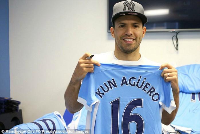 Agüero camisa Manchester City