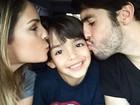 Kaká e Carol Celico paparicam filho: 'Príncipe da nossa vida!'